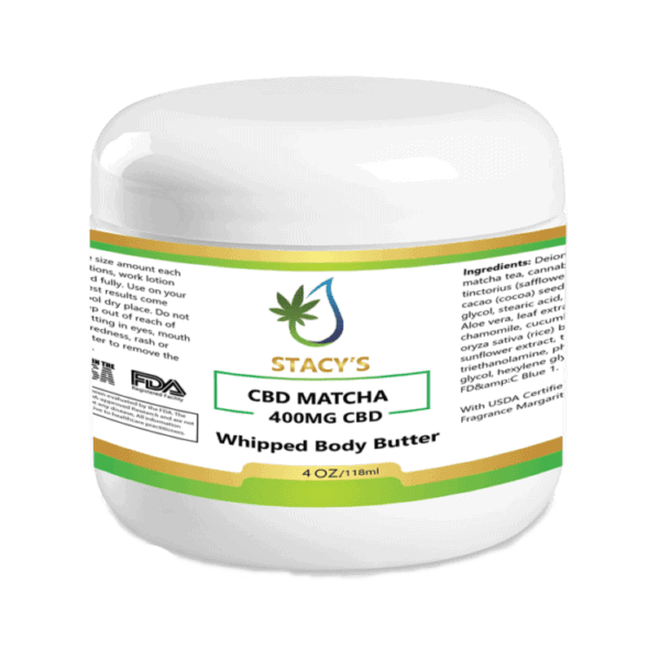 Ultra Moisturizing CBD Matcha Body Butter with 400mg